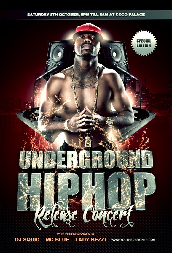 Graphic Design Inspiration Resources Freebies Ucreative Com Concert Flyer Hip Hop Flyer