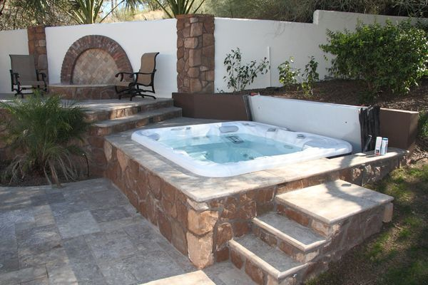 Image Result For Built In Above Ground Spa Backyard 2