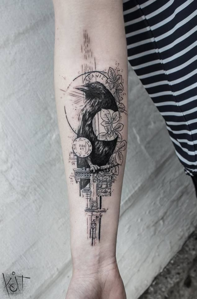 crow tattoo 17