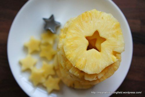 Grillattu ananas jätskillä