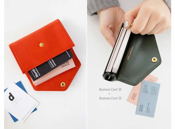 Envelope style pu leather business name card case universal card envelope style pu leather business name card case universal card holder reheart Image collections
