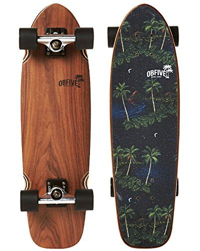 OB Five Skateboards Cruiser Skateboard - Hawaii Night, 28