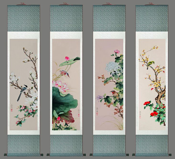 Chinese Four Seasons Wall Art   Go To ChineseFurnitureShop.com For Even  More Amazing Furniture