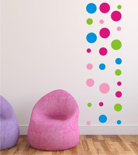 Punkte+Set+als+Wandsticker+Art.-Nr.+1149+von+wandtattoo-home+auf+DaWanda.com