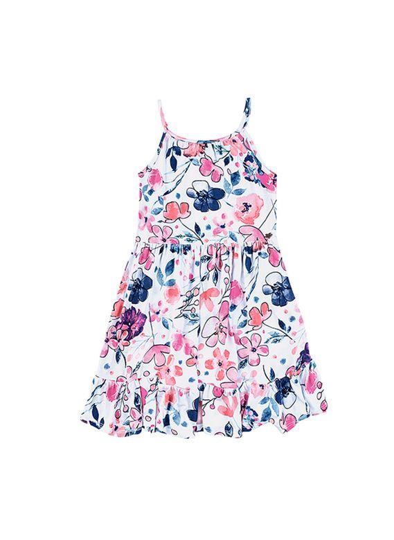27aa139033c88c Vestido Infantil Em Viscose Com Estampa   Vestidos   Feminino   PUC ...