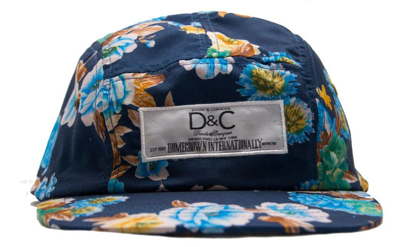 406f20b6569 DIVIDE AND CONQUER BLUE FLORAL 5 PANEL SNAP BACK NOW AVAILABLE ...