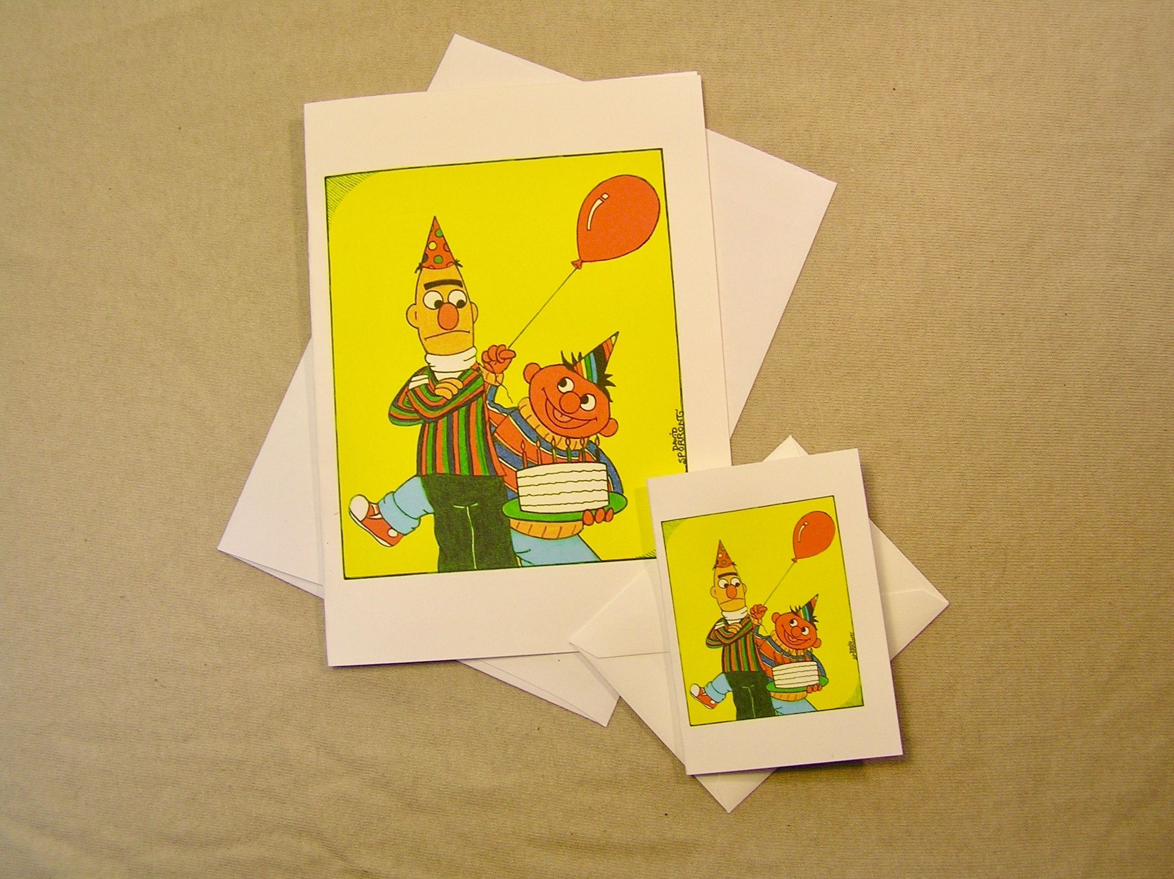 Bert & Ernie Celebrating A Bertday. Available In The