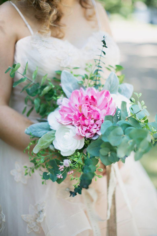 an intimate backyard wedding with a killer blush ballgown wedding