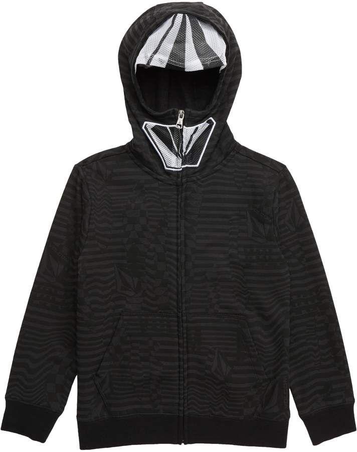 Volcom Kinder Black Cool Stone Full schwarz Zip Through