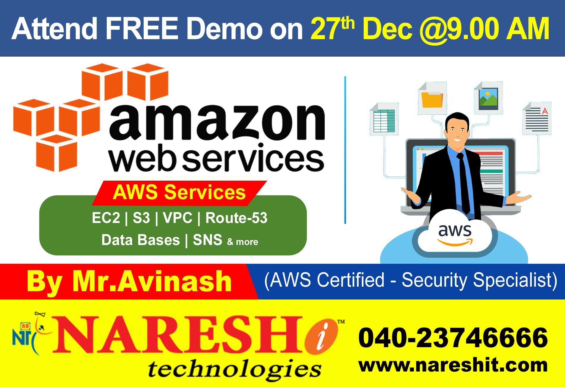 Attend Free Demo On AWS On 27th Dec 900 AM by Mr
