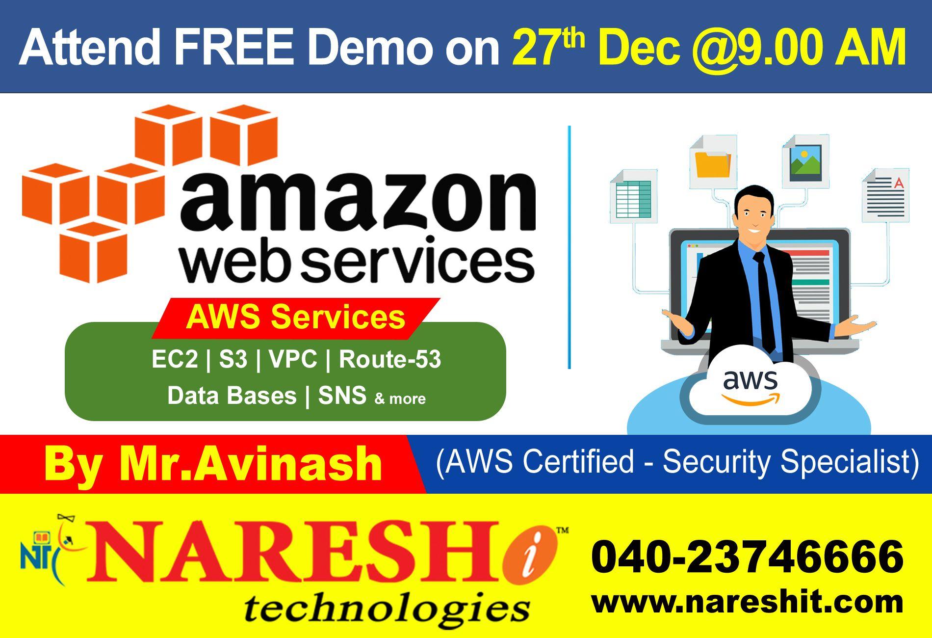 Pin by Naresh IT on AWS Training | Train, Training classes, Free