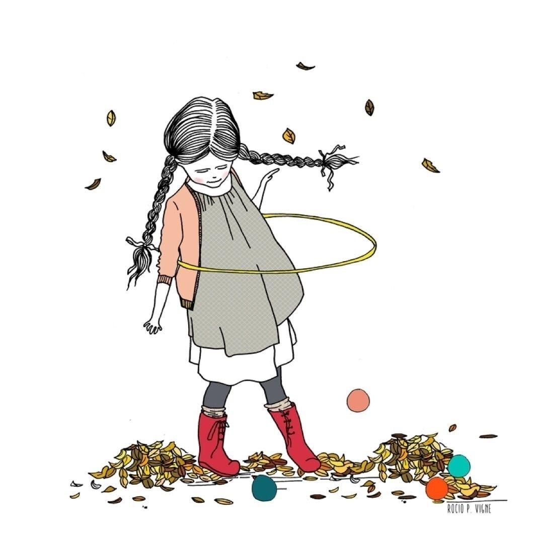 Leaves are fun!! By Rocio Vigne #art #elloart #artist #illustration #ello #children