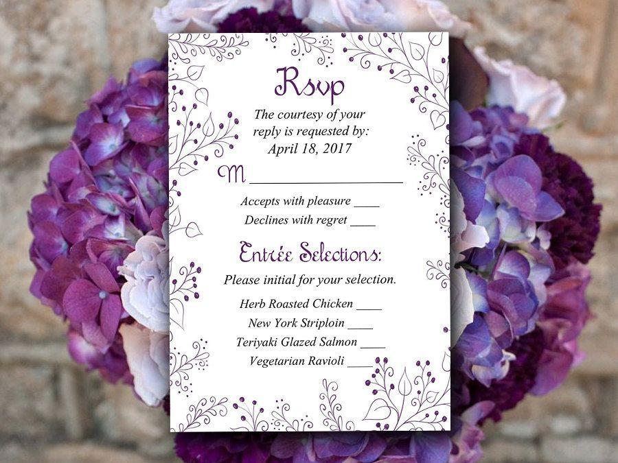 free templates for wedding response cards%0A Wedding RSVP Template  Response Card Printable Wedding Invitation RSVP Card    Finola   Soft Pink
