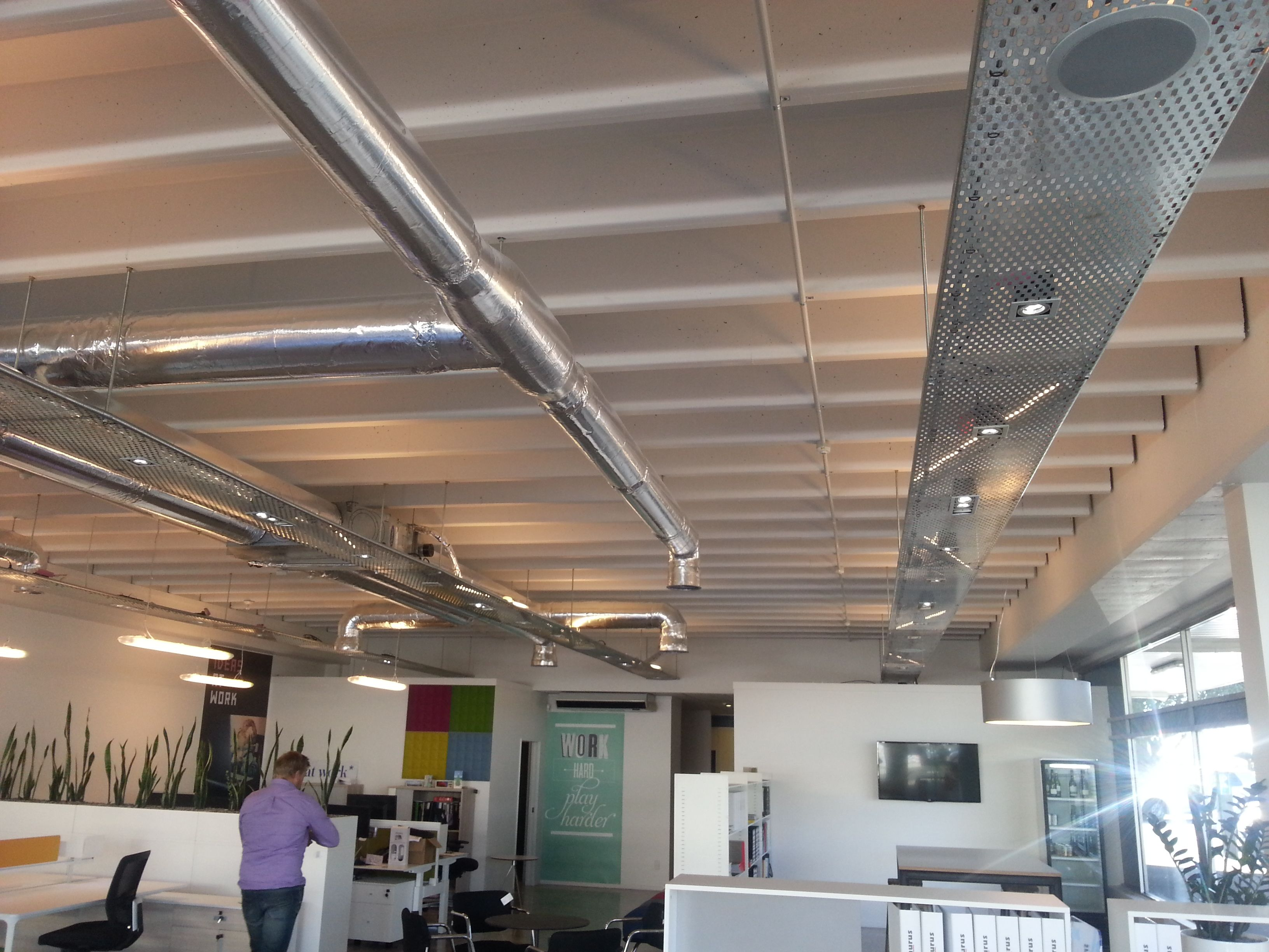 Exposed ducting and cable trays Office Space Pinterest Cable