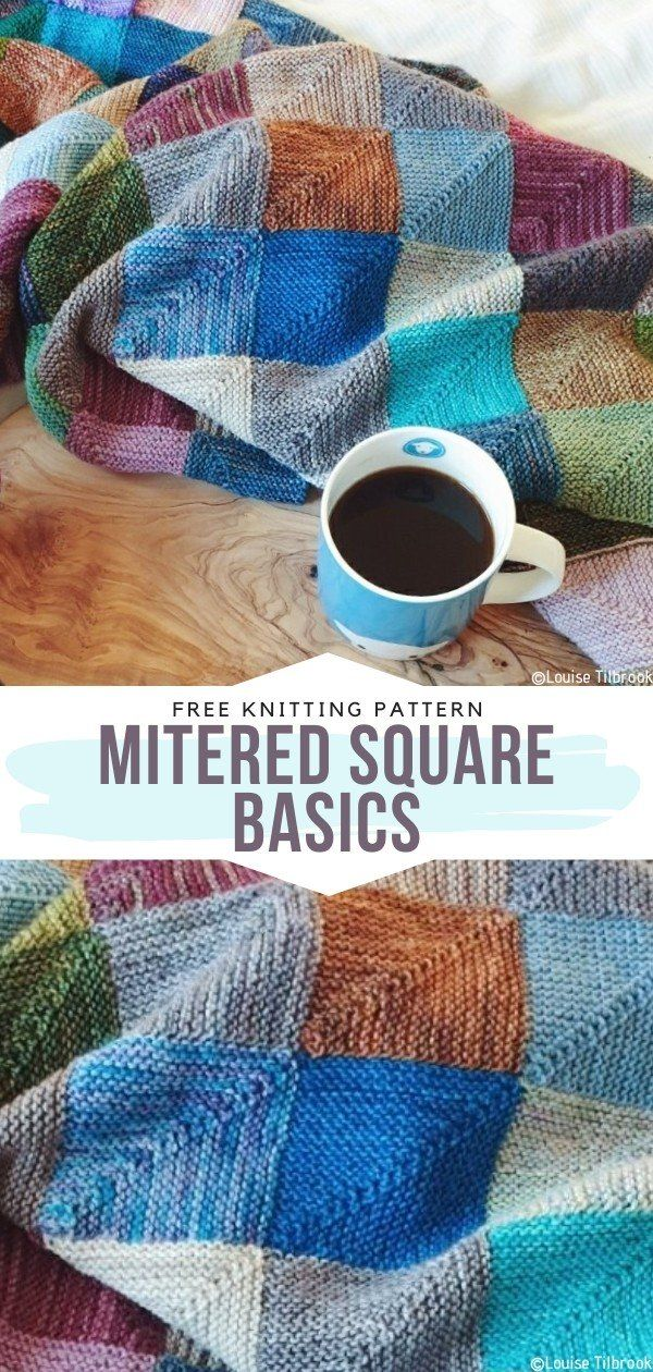 Photo of How to Knit Mitered Square Basics