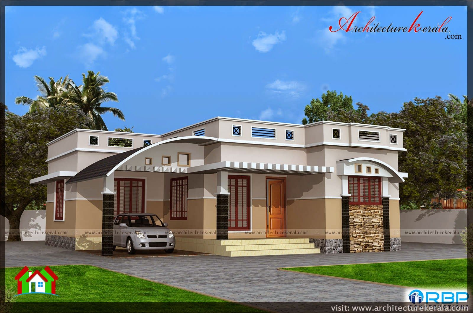 Below 1000 Square Feet East Facing Kerala House Plan And Elevation 2 Bedroom House Plan In Thousand Square Feet House Backyard Fences Front Yard Fence