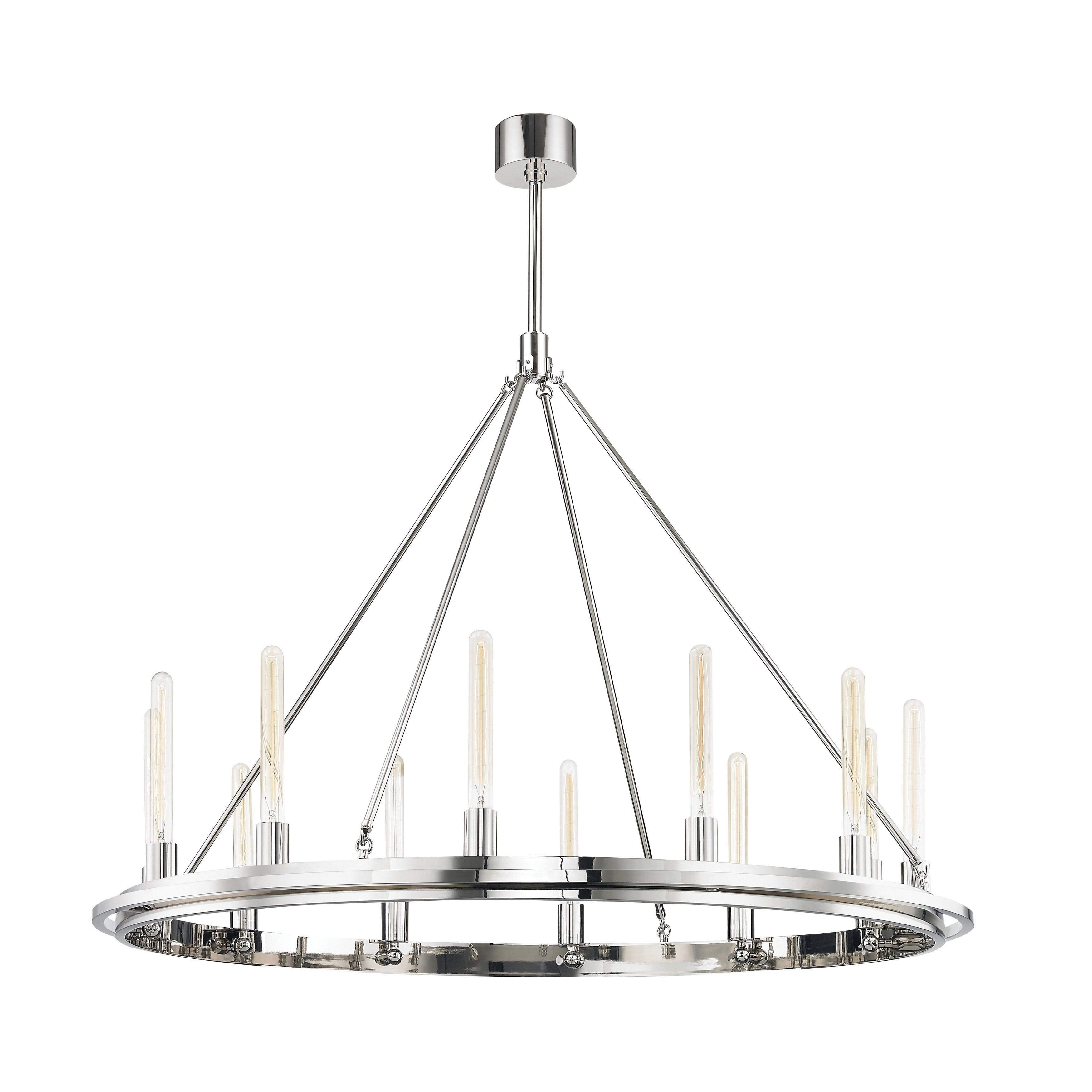 Hudson Valley Chambers 12 Light Polished Nickel Pendant Silver