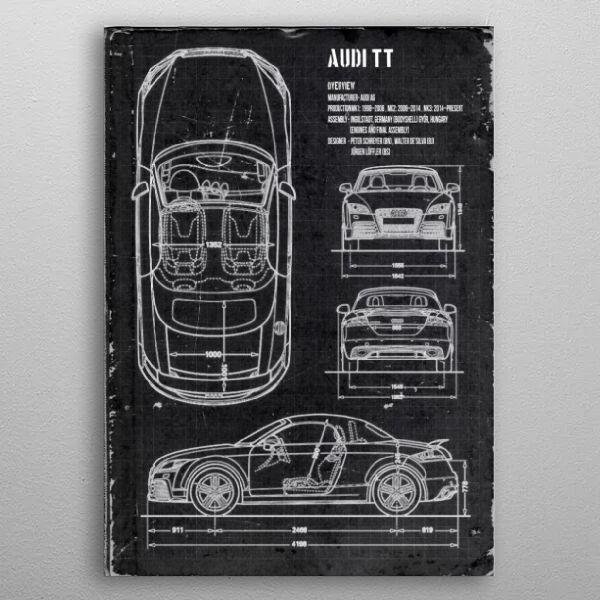Audi TT by FARKI15 DESIGN | metal posters - Displate | Displate thumbnail