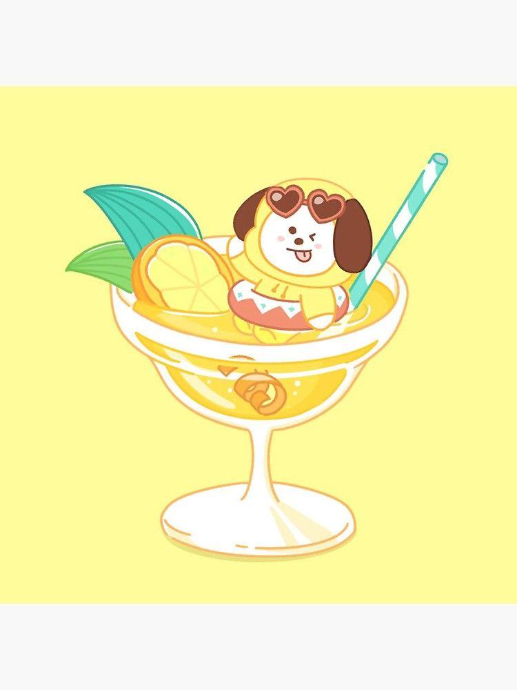 Pegatina ''BT21 Chimmy Summer Ice Cream Sundae' de renachuu