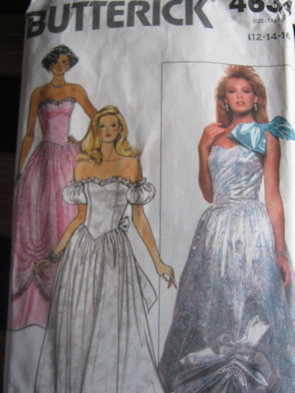 Vintage sewing pattern s ballgown prom dress occasion dress
