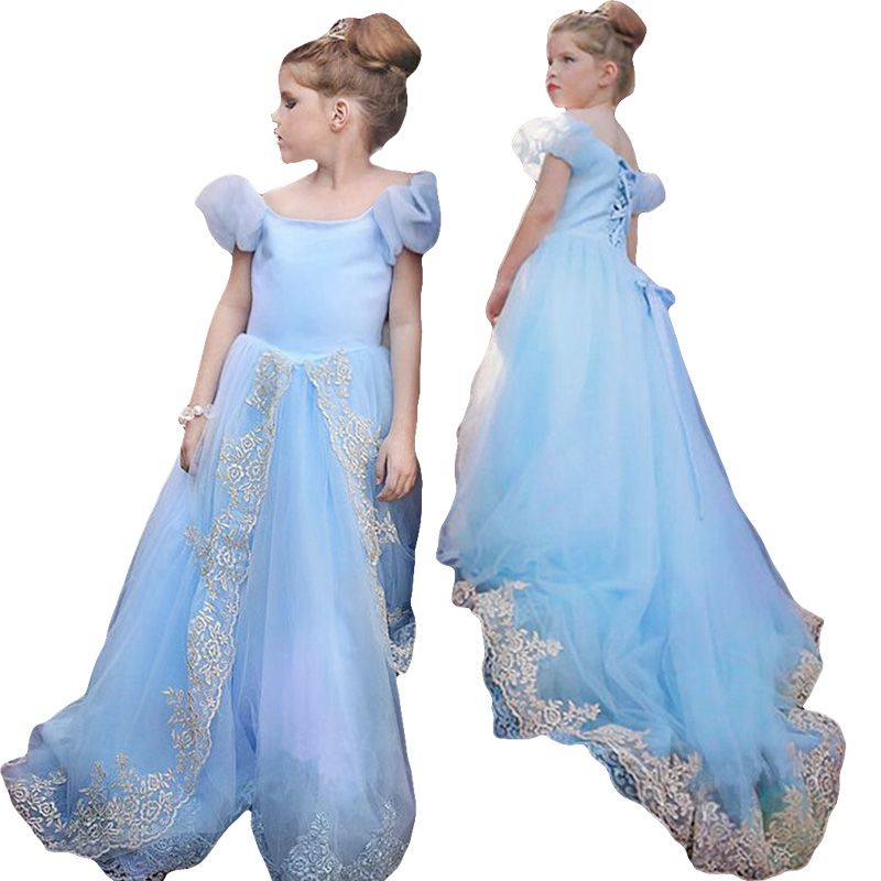 Hot !!! baby girl dress for summer Cinderella Princess party dresses ...