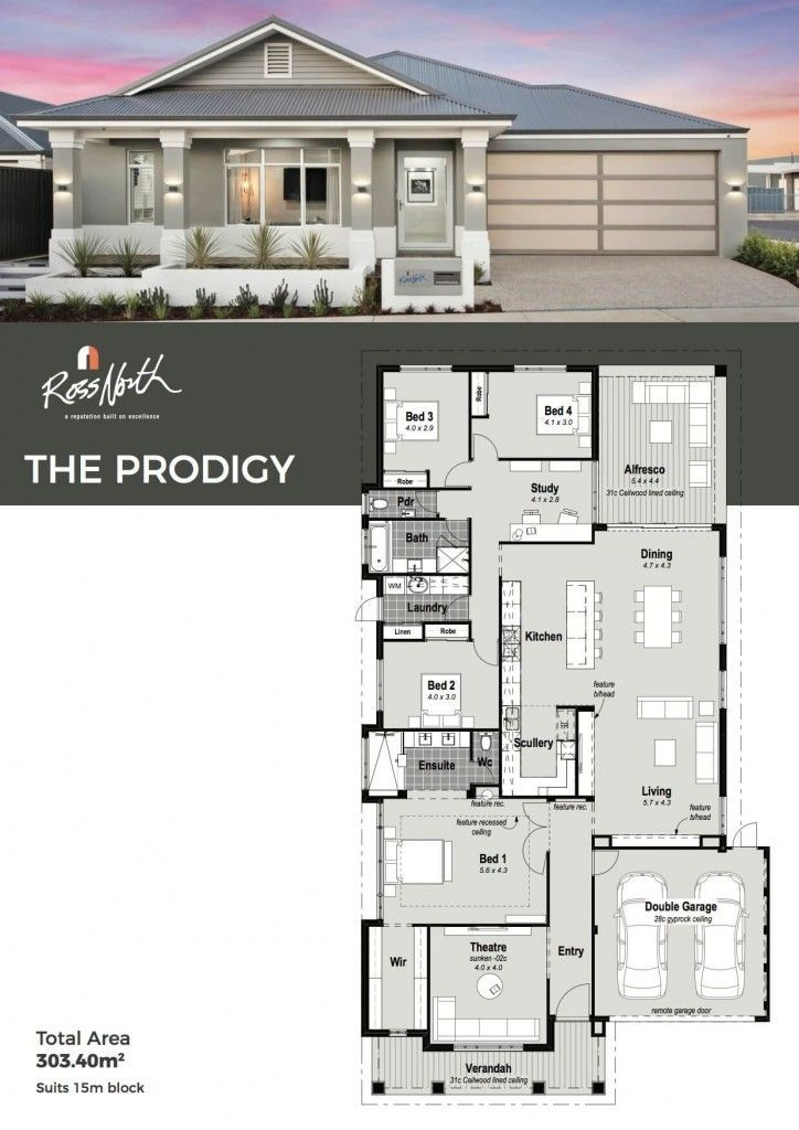 Refined Stylish Classic Designed For Functional Family Living This Four Bedroom Home Ticks All The Boxes The E Family House Plans House Plans House Design