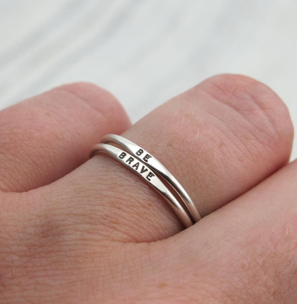 Tiny Stacking Posey Ring | Ring, Promise rings and Flaws