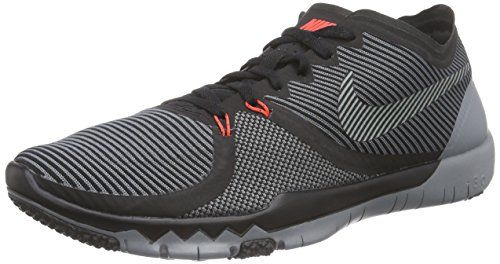 online retailer 54390 e282d Nike Mens Free Trainer 30 V4 Running Shoes Black Cool Grey ...