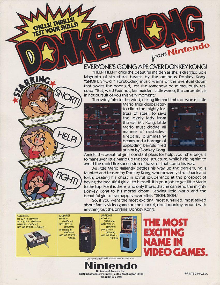 Donkey Kong (1981) by Nintendo Donkey kong, Vintage