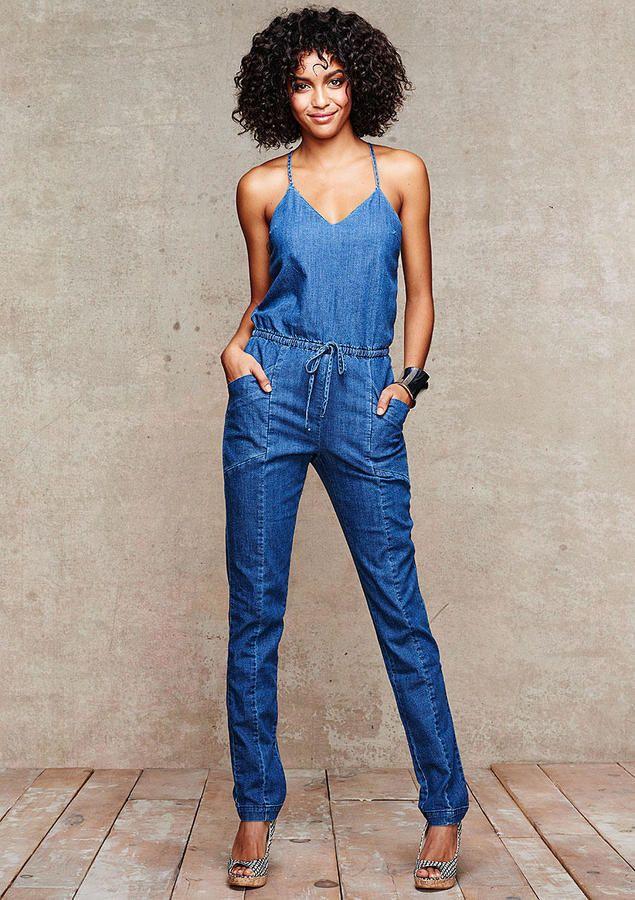 e406951d72a Spoon Jeans Tiana Denim Jumpsuit