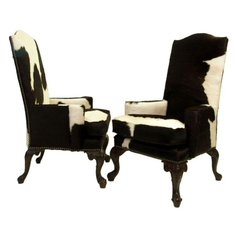 Pleasant Queen Anne High Back Arm Chair Cow Print Chair Cowhide Creativecarmelina Interior Chair Design Creativecarmelinacom