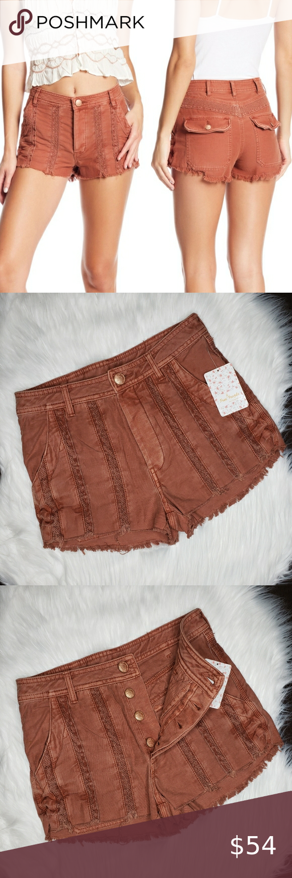 Free People Great Expectations Lace Cutout Shorts in 2020