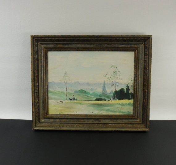 Mid Century Park Scene Oil Painting  Judith Lohnes by DadaRama
