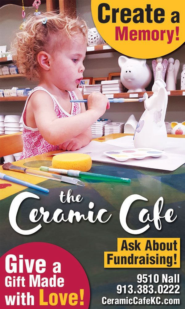 Ceramic Cafe:  Arts Classes & Activities for Kids, Birthday Party Places & Ideas #ceramiccafe Ceramic Cafe is a paint-your-own-pottery and glass fusing studio serving the Kansas City area. All ages are welcome. Our helpful staff will guide you through the creative process with techniques and supplies to help even the artistically challenged create a masterpiece they are proud to call their own. Paint your pottery piece or create a beautiful work of glass in our vibrant Leawood, Kansas, studio. T #ceramiccafe