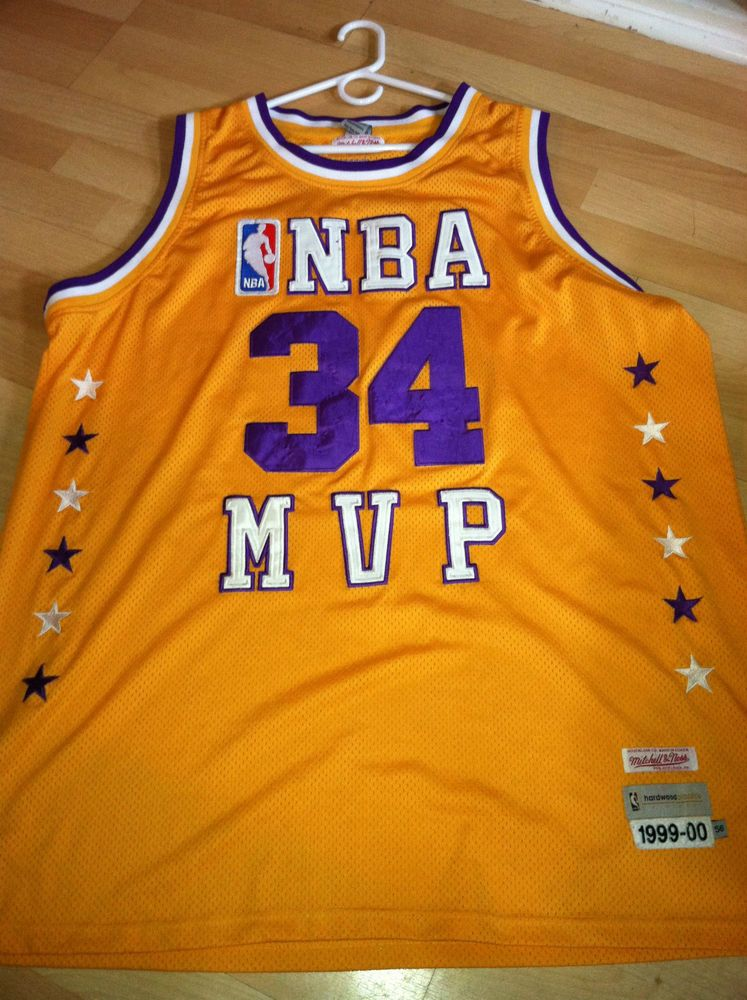 b58194077b08 SHAQUILLE O NEAL SHAQ LOS ANGELES LAKERS VINTAGE MITCHELL   NESS JERSEY 56   LosAngelesLakers