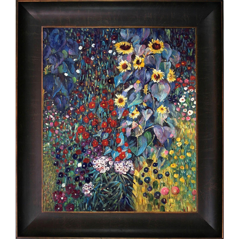 Gustav Klimt Poster Farm Garden with Sunflowers Fine Art Giclee/' Print 24x36 in