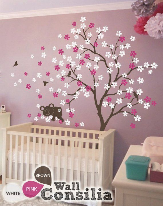 Baby Nursery Tree Wall Decals Large Cherry Blossom