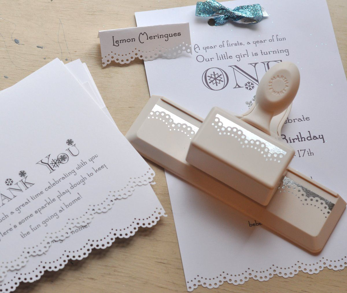 Martha Edge Lace Hole Punch For Invitations
