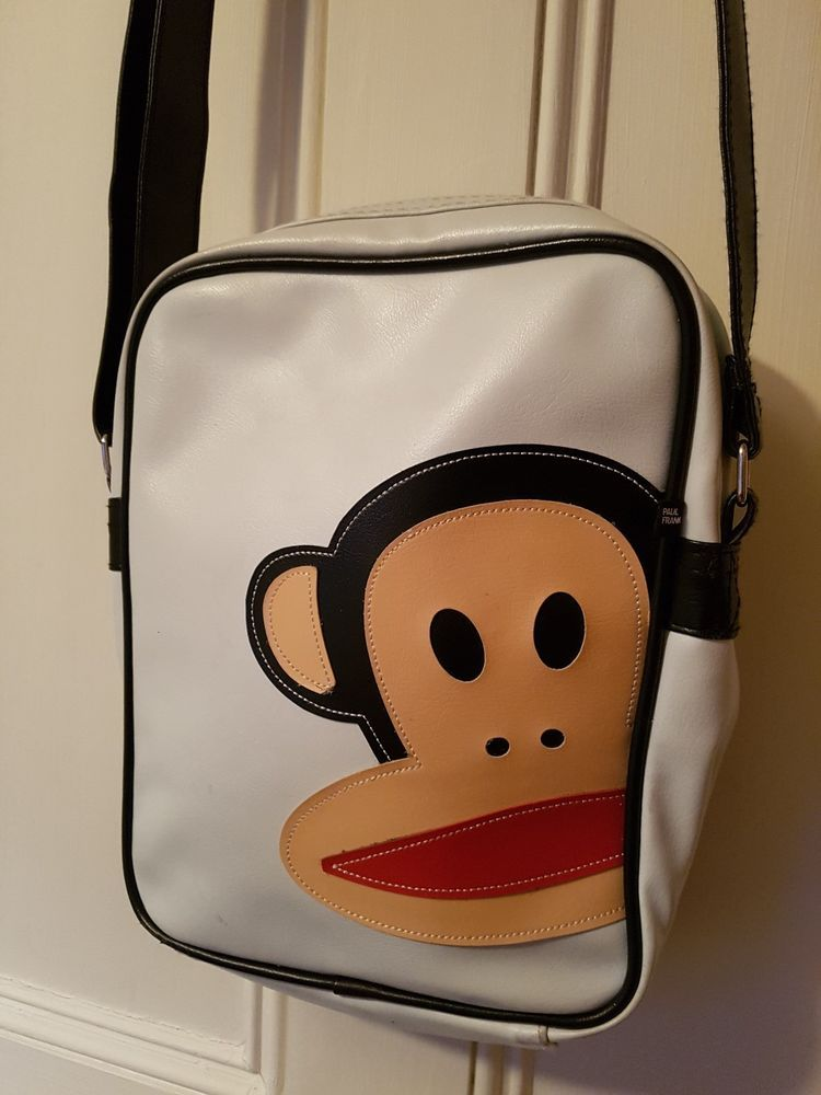 Paul Frank Julius The Monkey Design Messenger Shoulder School Travel College Bag