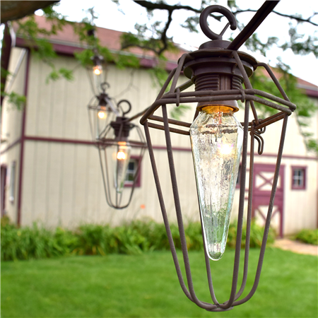 Outdoor String Lights Nautical : Outdoor / Hanging / DIY / Patio / Bistro / Nautical / String Lights / Vintage Wire Cage Lights ...