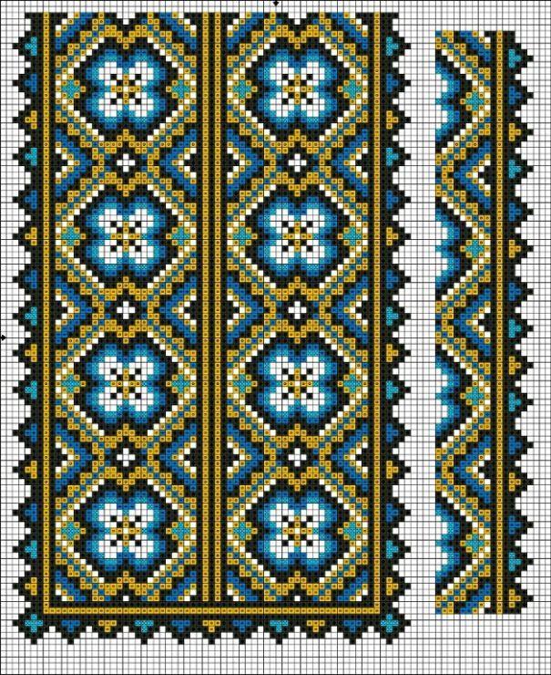 Gallery.ru / Фото #117 - схемы для вышиванок - zhivushaya