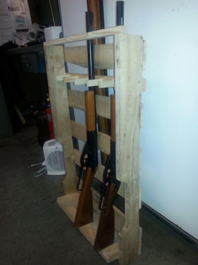 Gun rack i made from reclaimed pallet good ones pinterest