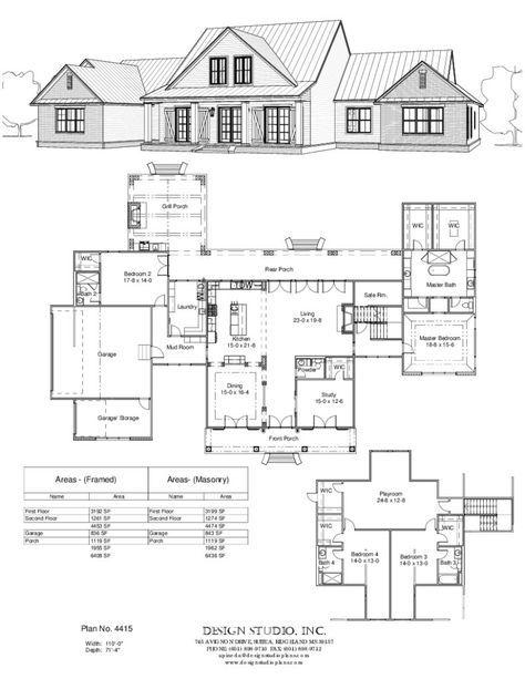 Plan #4415 Design Studio Floor plans Pinterest House plans