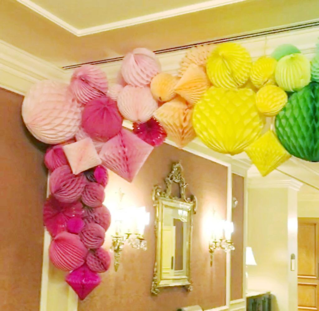 How To Make Giant Party Decor Using Honeycomb Balls Birthday Decorations Ball Decorations Honeycomb Decorations