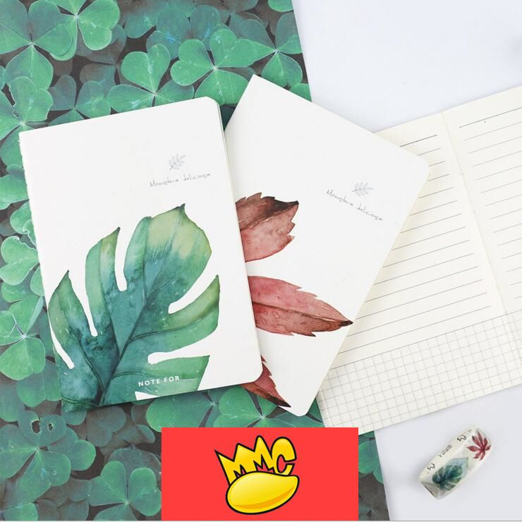 """One Leaf"" A6 Pack of 4 Lined Notebook Pocket Journal Notepad Diary Planner #Unbranded"