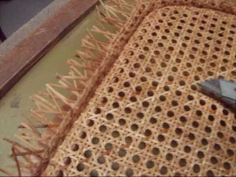 Chair Caning How To Pre Woven Pt 2 Youtube Caning Chair Repair Bentwood Rocking Chair