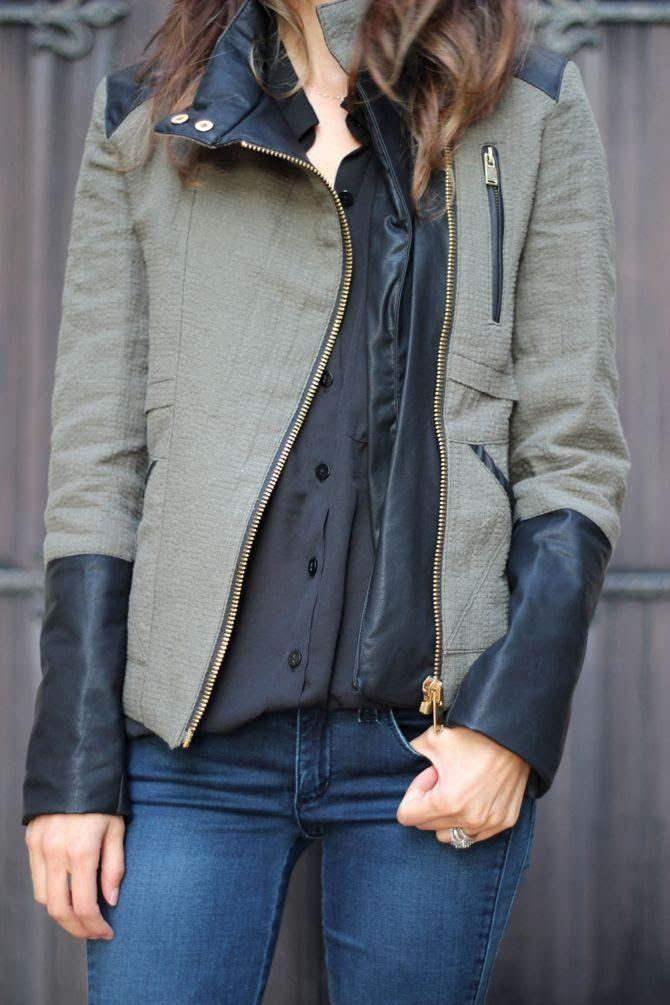 Military jacket + Denim