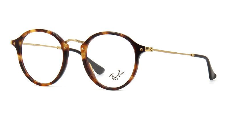 84fc92dd407 New Ray Ban Frames Retro Round Gold Tortoise Eyeglasses RB2447-V 5494 47mm  Italy