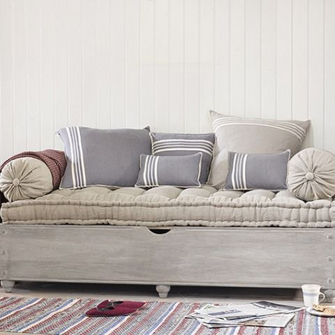 Tufted Sofa Bonjour u Beautiful Hand Carved Daybed Bonjour Daybed in rustic linen Sofa Beds u Daybeds