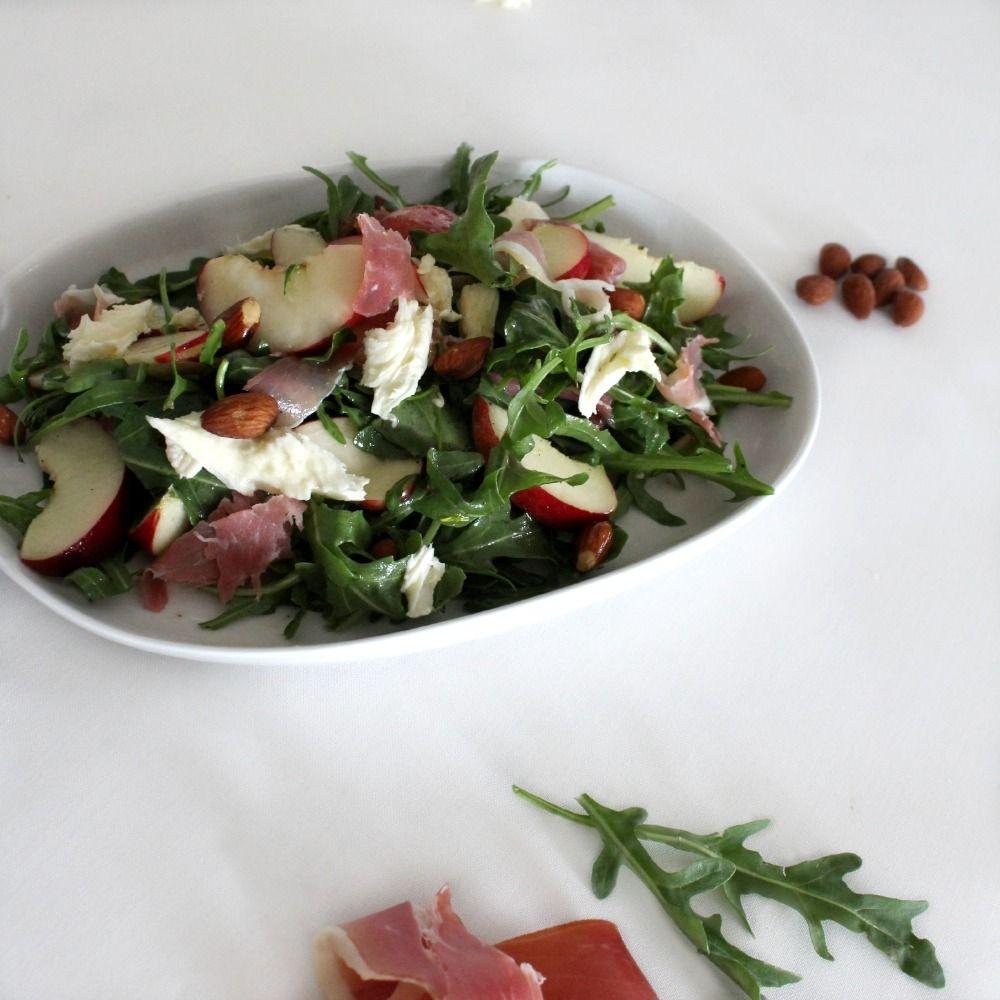 LOZ Simple Salad Series 2014: White Nectarine & Prosciutto salad with Maple Dressing [blog] www.landofzonkt.com.au